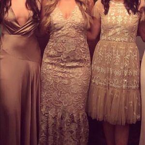 Dress the Population Dresses - Dress the population Sophia crochet trumpet dress